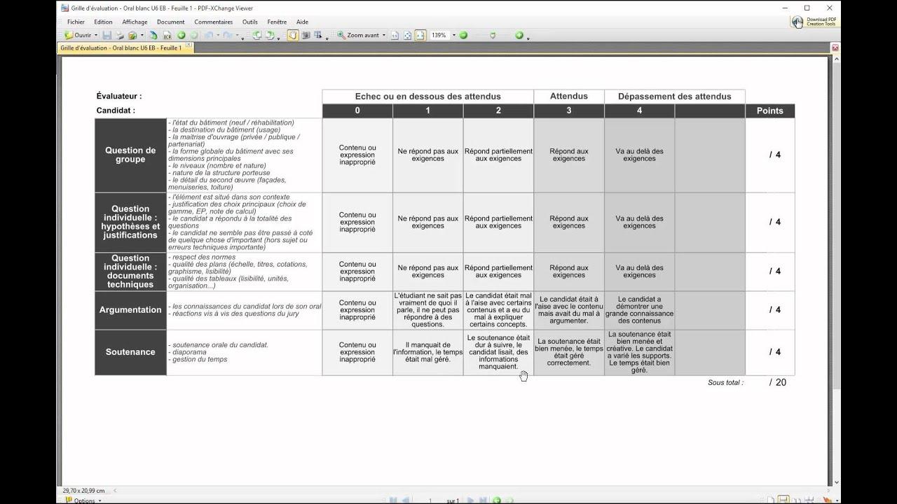 Moodle cr er un devoir avec une grille d 39 valuation - Grille d evaluation pour recrutement ...