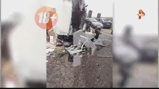 Массовая авария с машинами военных в Дагестане! Погиб один человек! Первые кадры (22.06.17)