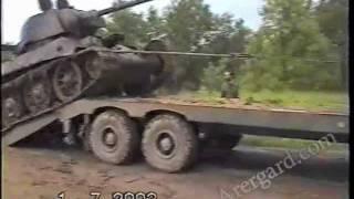Подъем советского танка Т-34-76 'Снайпер'