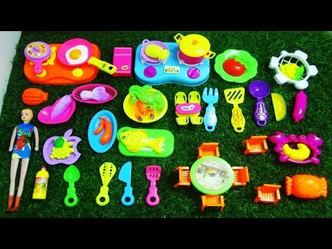 NEW MINI KITCHEN SET WITH NEW COLLECTION OF FOOD AND KITCHEN PLAY SET FOR KIDS