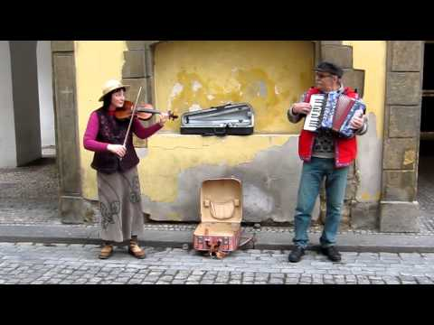 Great band performing in the streets of Prague