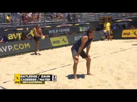 AVP San Francisco Open 2017 Men's Quarterfinals: Casebeer/Mayer vs Ratledge/Zaun