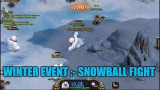 Wartune :- Winter Event 2018 (Snowball Fight), Gameplay Tips And Strategies