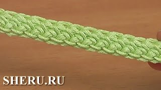 Шнур вязаный крючком гусеничка Урок 107