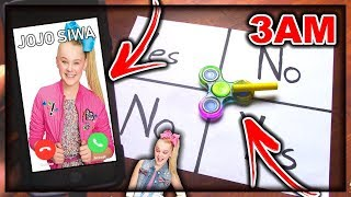 DO NOT PLAY CHARLIE CHARLIE FIDGET SPINNER WHEN CALLING JOJO SIWA AT 3AM! SHE BROKE INTO TO MY HOUSE