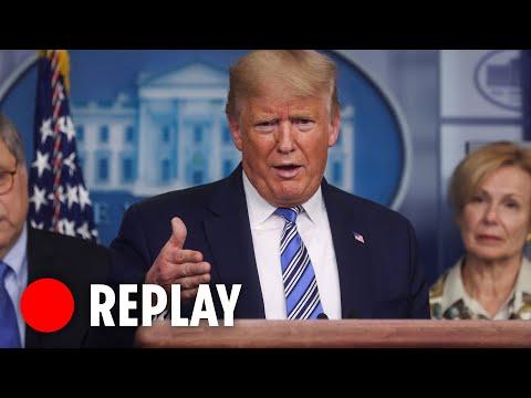 President Donald Trump coronavirus daily briefing - LIVE