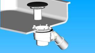 видео Cифон для поддона душевой кабины: устройство и правильное подключение