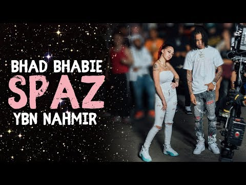 "BHAD BHABIE ""Spaz"" ft. YBN Nahmir Lyric Video 