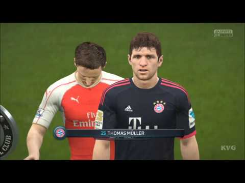 FIFA 16 - UEFA Champions League - Arsenal FC vs FC Bayern Munich Gameplay (XboxONE HD) [1080p60FPS]