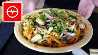Szczęście na talerzu - Bimbab + Udon z owocami morza. Sushi-Ya Kielce