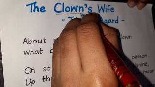 Analysis of the poem &quotThe Clown&#39s Wife&quot