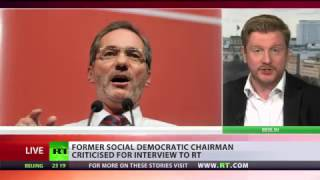 Looking for Boogeyman  Frmr German Social Democratic chairman criticized for RT interview