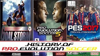 The history of pes 2017 (1995 - 2016) | pro evolution soccer (winning eleven)