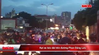 Kẹt xe kéo dài trên đường Phan Đăng Lưu | Truyền Hình - Báo Tuổi Trẻ