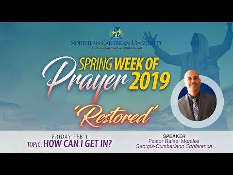 "NCU SPRING WEEK OF PRAYER 2019 - ""RESTORED"" - 01-02-2019   LIVE STREAM"