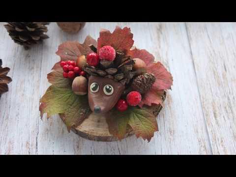 Осенняя поделка совы в садик своими руками из природных материалов