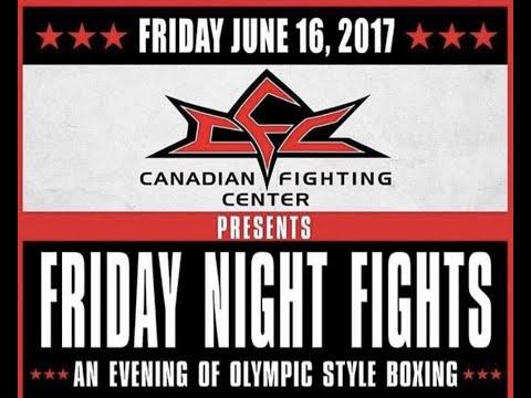 CFC's Friday Night Fights, June16th 2017 in Winnipeg, Canada