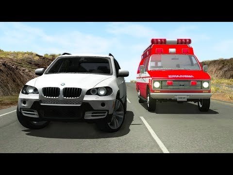 Emergency Vehicles High Speed Crashes #1 - BeamNG drive