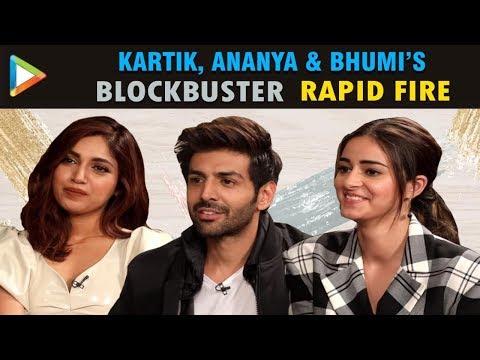Kartik, Ananya & Bhumi's MADDEST & CRAZIEST Rapid Fire Ever | Pati Patni Aur Woh Mp3