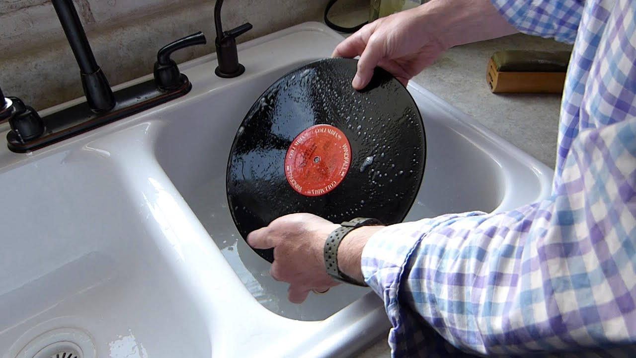 Washing A Dirty Lp Record Using Soap And Water Cheap And