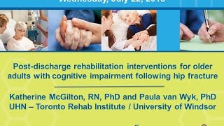 2015 07 22 rehabilitation interventions for older adults with CI following a hip facture
