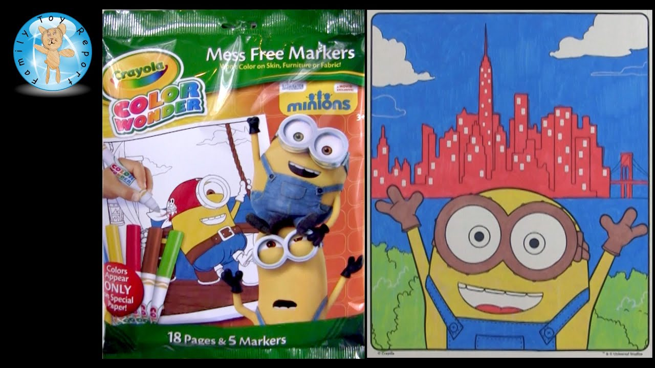 Crayola Color Wonder Minions Movie Coloring Pages Review - Family ...