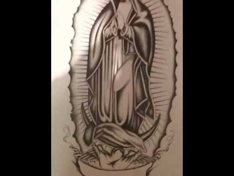 Virgen de Guadalupe drawing - YouTube