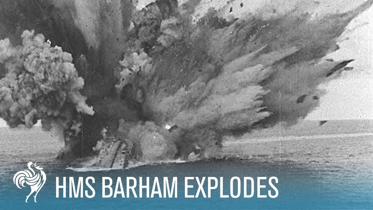 hms barham explodes amp sinks world war ii 1941 british