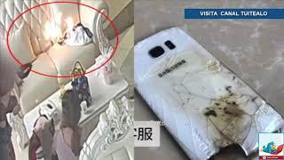 Teléfono Samsung explota repentinamente en una estética de China