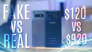 Fake vs Real Galaxy Note 8!