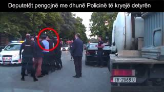 Deputetet dhune ndaj policise. Tema TV. 23 korrik 2014
