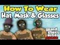 GTA 5 Online - How To Wear Mask, Glasses & Hat/Helmet (Glitch Tutorial)  [GTA V Cool Trick]