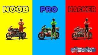 REAL BIKE RACING - NOOB VS PRO VS HACKER screenshot 4