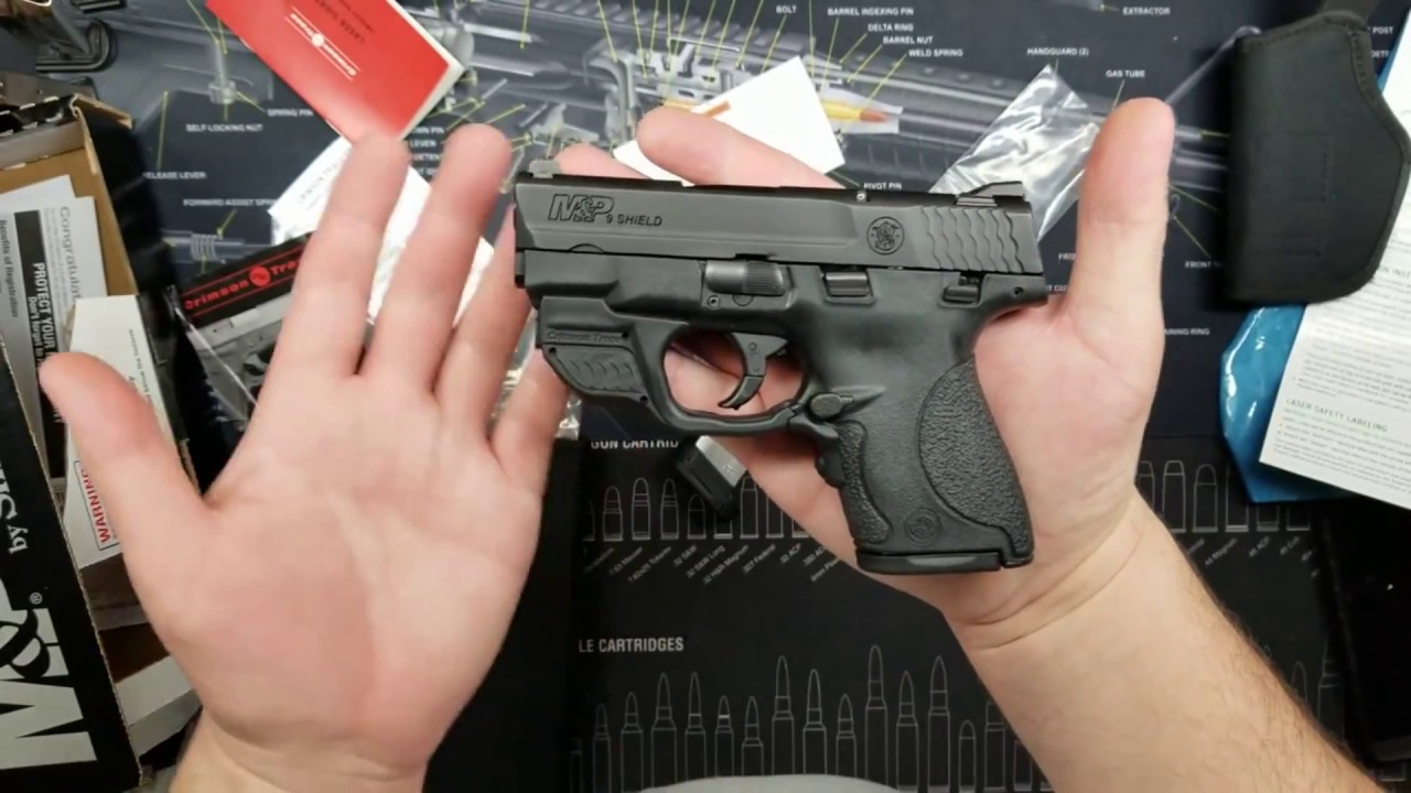 M&P Shield 9MM - Special Package w/ Crimson Trace Green Laser - Unboxing &  Install