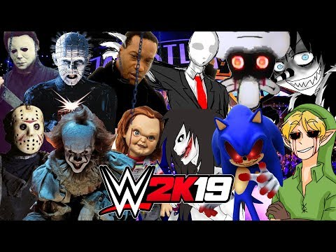 HORROR vs CREEPYPASTA   WWE 2K19 Royal Rumble
