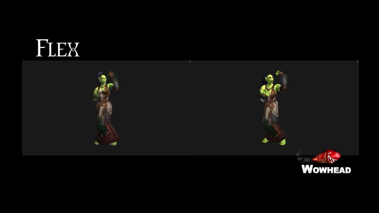 Warlords and Classic Female Orc Animation Comparison