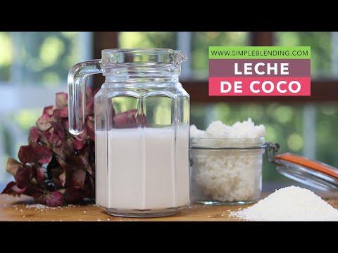Cómo preparar leche de coco en casa   Receta fácil de bebida vegetal de coco   Receta casera