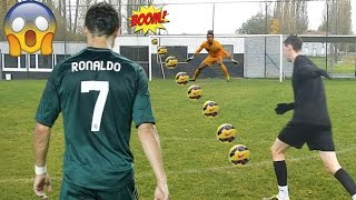cristiano ronaldo in real life football best goals recreated 13