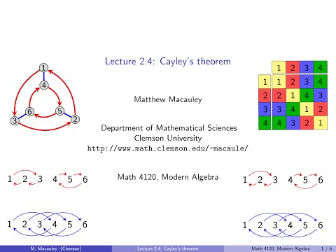 Visual Group Theory, Lecture 2.4: Cayley's theorem