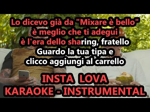 Marracash e Guè Pequeno: INSTA LOVA (Karaoke - Instrumental)