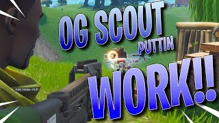 SEASON 2 SCOUT SKIN PUTTING IN WORK -Fortnite Battle Royale Gameplay