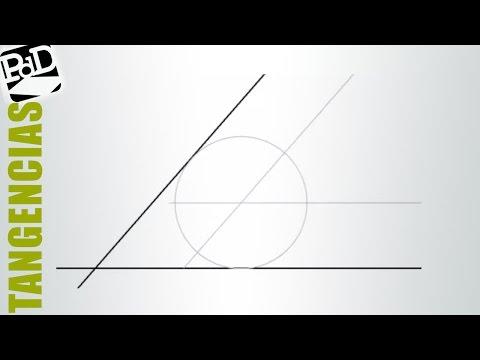 Circunferencia tangente a dos rectas con un radio concreto