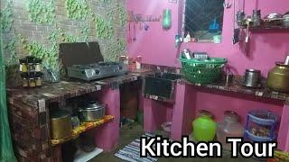 என் சமையலறை || How to organise small kitchen without cabinets || kitchen organization ideas