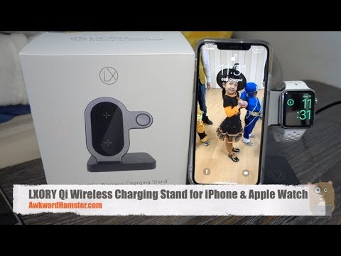 LXORY Qi Wireless Charging Stand for iPhone & Apple Watch