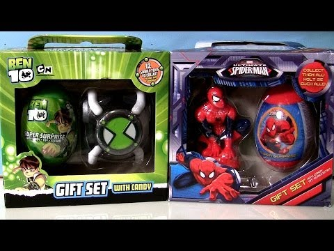 Super surprise eggs gift set ultimate spiderman marvel ben10 super surprise eggs gift set ultimate spiderman marvel ben10 easter eggs by disneycollector youtube negle Image collections
