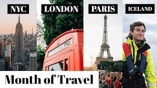 London, Paris, Iceland, NYC - Month of Travel