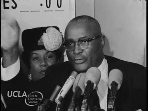 "KTLA News: ""Martin Luther King, Sr. press conference in Los Angeles"" (1963)"