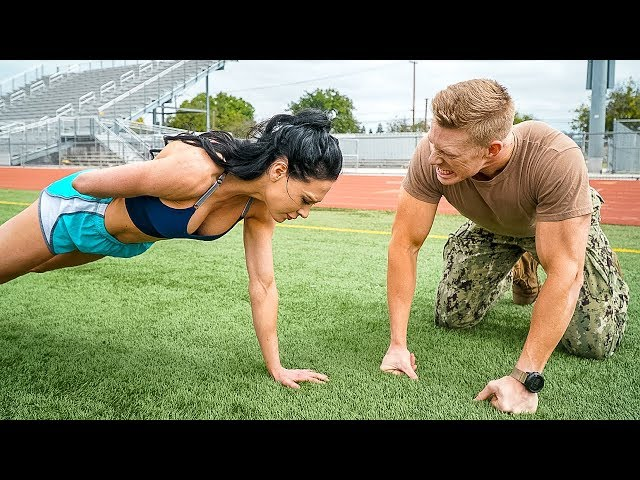 Ms. Bikini Olympia Attempts the US Navy Physical Test