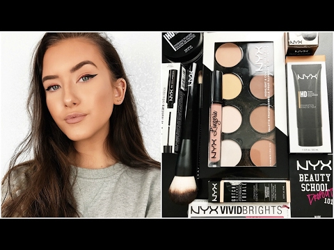 TESTING NYX MAKEUP! FULL FACE OF FIRST IMPRESSIONS | Hannah Renée