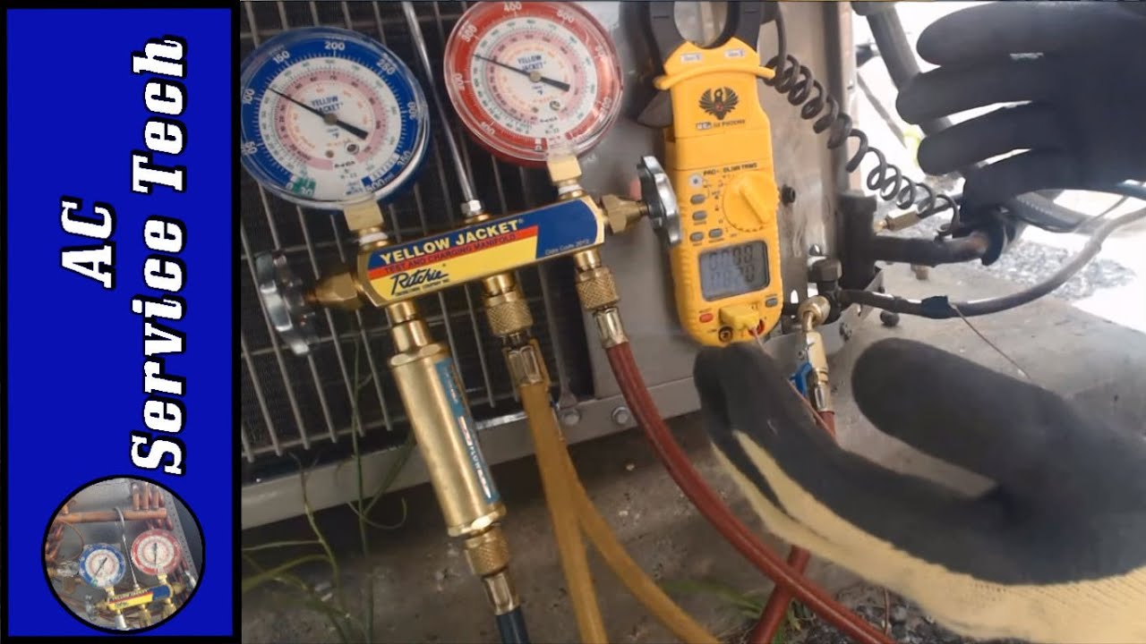 Charging Refrigerant Step By Step Connecting Gauges